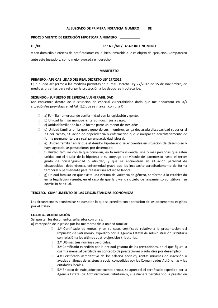 formularios derecho penitenciario: