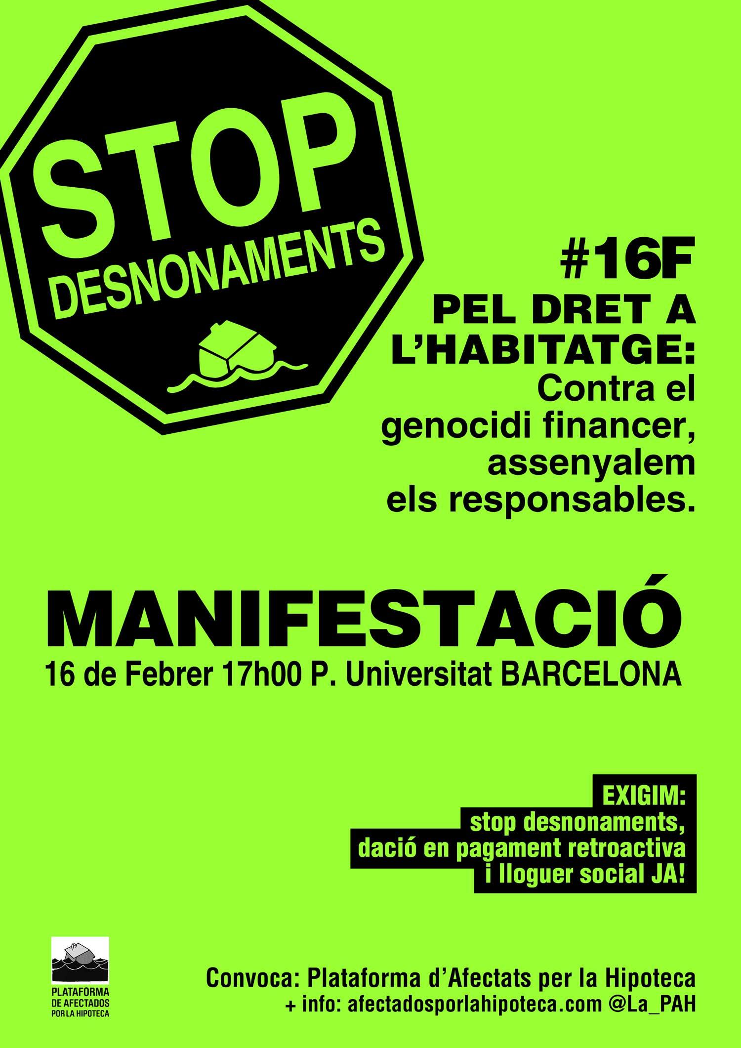 manifestació 16F