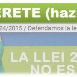 CAMPAÑA DE ADHESIONES EN DEFENSA DE LA LEY 24/2015 CONTRA LA EMERGENCIA HABITACIONAL