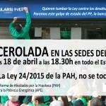 ¡ESTE LUNES 18 DE ABRIL: CACEROLADA EN LAS SEDES DEL PP!