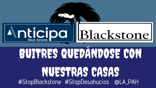 The Platform of People Affected by Mortgages (PAH by its Spanish acronym) returns to the fray defending families affected by Blackstone's extortion
