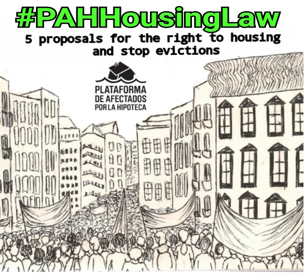 Thanks to social pressure the PAH Housing Law enters the Spanish Congress