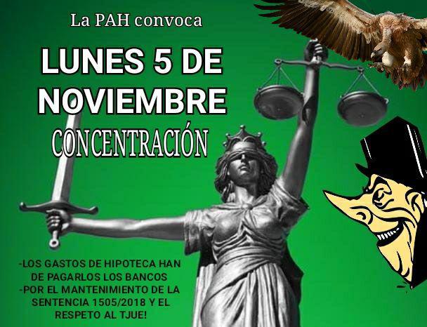 Este lunes 5 de noviembre, la PAH inicia nuevas movilizaciones para que la banca pague por todas las cláusulas abusivas frente a los intentos de blanquearlas