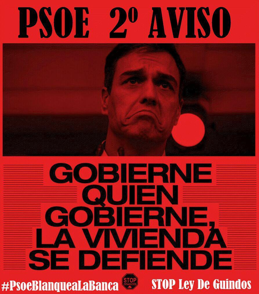 A los responsables federales de vivienda, economía y justicia del PSOE