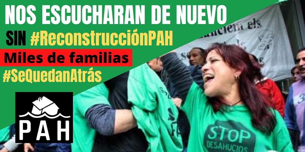 Intervención de la PAH ante el grupo de trabajo Políticas Sociales y Sistema de Cuidados de la Comisión para la Reconstrucción Social y Económica del Congreso