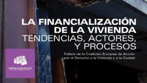 Libro sobre la financialización de la Vivienda elaborado por La Coalición Europea